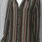 LANE BRYANT Silk Vertical Stripe Blouse - Size 18/20