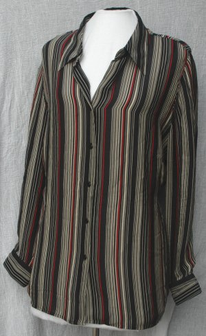 LANE BRYANT Silk Vertical Stripe Blouse - Size 18/20