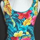 JAMS WORLD Vibrant Empire Waist RAINFOREST Dress - LARGE