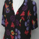 CHICO's DESIGN Vibrant Rayon Blouse Size 1 Small Medium