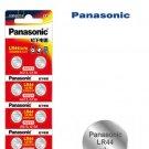 10 x Panasonic LR44 Button Coin Cell 1.5V Alkaline Battery exp 06-2023 SR44 AG13