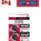 2 x Maxell CR2032 Button Coin Cell 3V Lithium Battery Batteries exp 12-2029