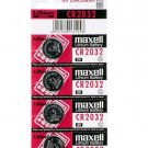 5 x Maxell CR2032 Button Coin Cell 3V Lithium Battery Batteries exp 12-2029