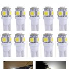 10x T10 Bright White LED Car Lights 194 168 2825 5050 5SMD Bulb Lamp Peanut