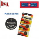 2 x Panasonic CR1616 Button Coin Cell 3V Lithium Battery Batteries exp 12-2029