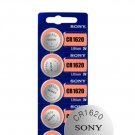 5 x Sony CR1620 Button Coin Cell 3V Lithium Battery Batteries exp 2030