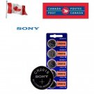 5 x Sony CR2016 Button Coin Cell 3V Lithium Battery Batteries exp 2030