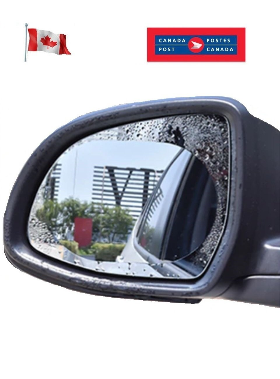 Large Car Rearview Mirror Protective Film Anti Fog Decal Clear Rainproof Rear Sticker