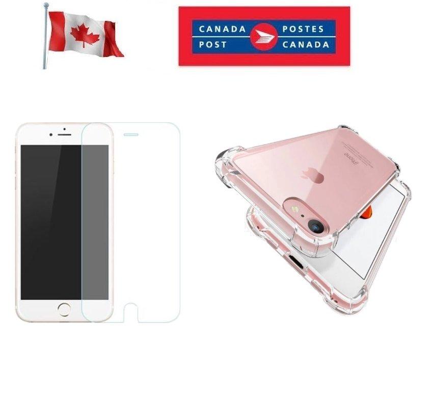 iPhone 12 Mini Slim Bumper Case Tempered Glass Screen Protector 7 8 XR XS 11 12 SE2 Pro