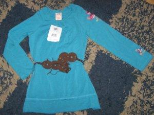 NWT girls sz XS 4/5 Faded Glory peasant style shirt