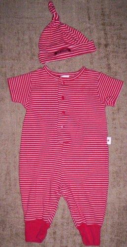 NN boys 0-3 mos Baby Gap 2pc outfit romper + knot cap