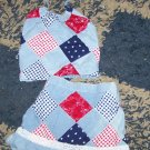 LN girls 3T Childrens Place patriotic set halter/skirt