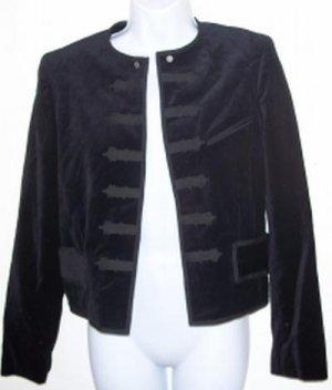 RALPH LAUREN POLO jacket VELVET NWOT black S Military