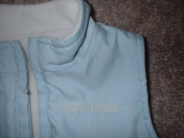 6 months Blue Baby BUM Equipment reversible vest SHIPPING INCLUDED