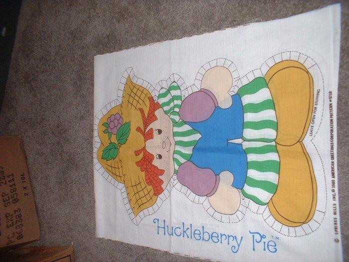 Fabric Huckleberry Pie Strawberry Shortcake Original Rare Vintage Collectible (include SHIPPING)