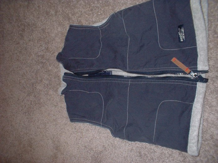 Boys' Toddler Size 3 BUM EQUIPMENT Reversible Vest Fleece Navy Gray **SHIPPING INCLUDED**
