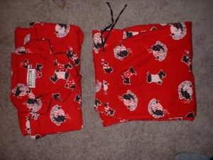 Ladies Plus Size Pjs 1x Red with scotty dogs PRICED REDUCED  Shipping INCLUDED