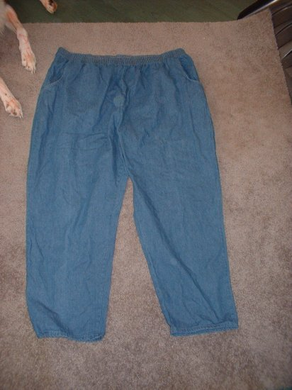 Ladies Plus Size 3x Denim Pants w/ elastic waist!  SHIPPING INCLUDED