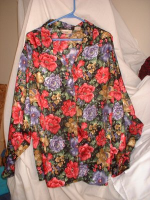 Ladies Blouse Plus Size 44 Floral  SHIPPING INCLUDED