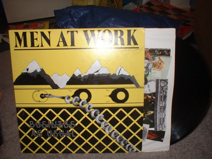 "Men At Work:  ""Business As Usual"" Vinyl Record Album 1982 (we combine shipping)"