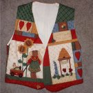 Ladies VEST Handmade Small Size Bears/honey/bees.  INCLUDES SHIPPING!!