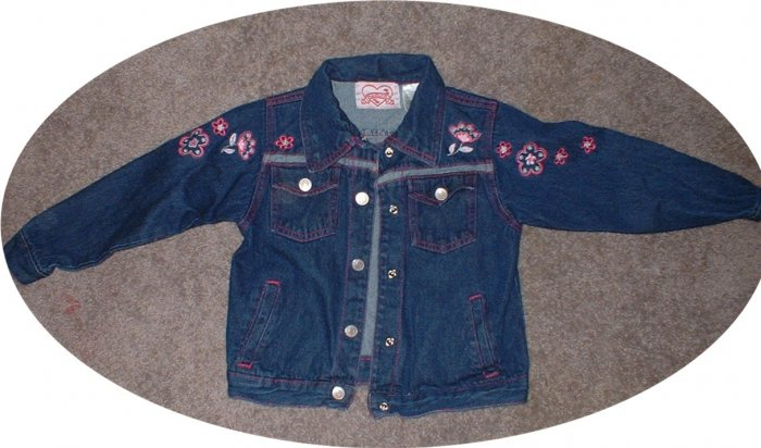 Denim Jacket Girls size 5.  MINT condition!  SHIPPING INCLUDED! (we combine shipping as well!)