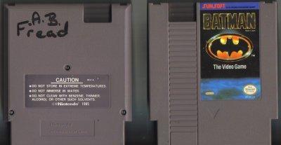 Batman The Video Game Sunsoft NES Vintage Game Original Nintendo