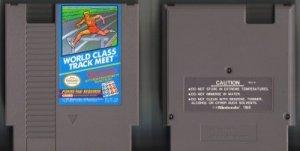 World Class Track Meet NES Vintage Game Original Nintendo