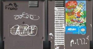 Simpsons Bart vs The Space Mutants NES Vintage Game Original Nintendo