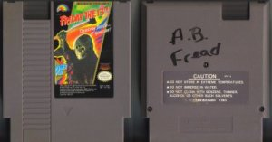 Friday The 13th NES Vintage Game Original Nintendo