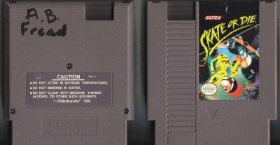 Ultra Skate or Die NES Vintage Game Original Nintendo