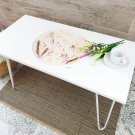 Epoxy resin Coffee Table with natural flowers - Small Herbarium HANDMADE