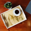 Wooden Tray with Goldenrod HANDMADE