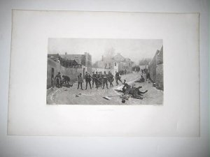 Reconnoitering by Edourd Detaille 1880's Gravure