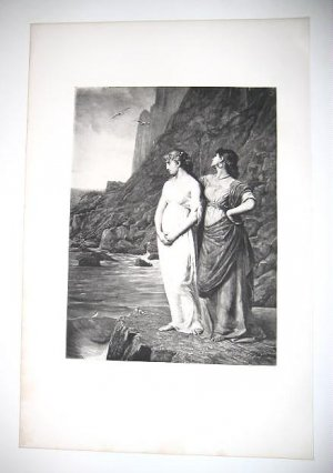 """""""The Belle of Scio"""" by Jean Benner Antique Gravure from 1880's"""