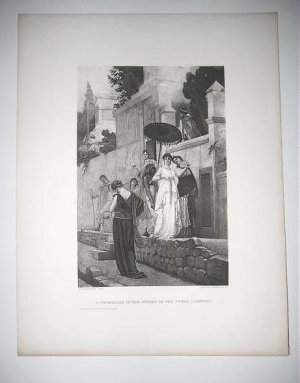 The Promenade in the Streets of the tombs, by Boulanger