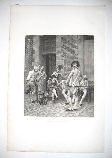 Portrait of the Serjeant by J.L.E Meissonier 1880's Gravure