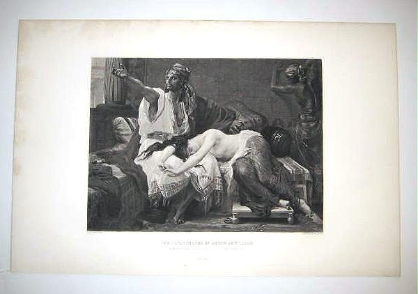 THE CATASTROPHY OF AMNON AND TAMAR, 1880's gravure