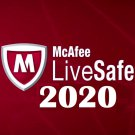 McAfee LiveSafe 2020 One Device 12 Month License + gift