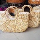 Plain Kiso Water Hyacinth Handbag, Indonesia Hand Made, Woman Casual/ Party Bag