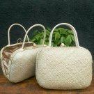 Plain Pillow Pandanus Handbag, Indonesia Hand Made, Woman Casual/ Party Bag