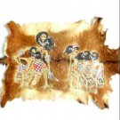 Painting of Five Pandawas on Goat Skin, Indonesian Traditional Arts from Yogyakarta