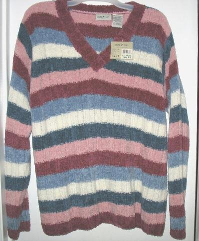 White Stag Long-Sleeve V-Neck Sweater