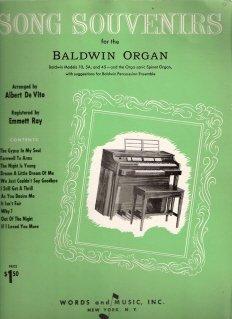 Song Souvenirs for the Baldwin Organ