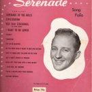 Bing Crosby's Serenade Song Folio