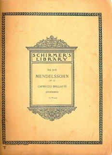 Mendelssohn Capriccio Brillante