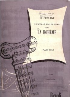 Musetta's Waltz Song From La Boheme