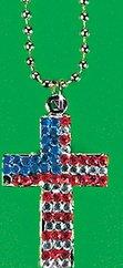 USA Gemstone Cross Necklace