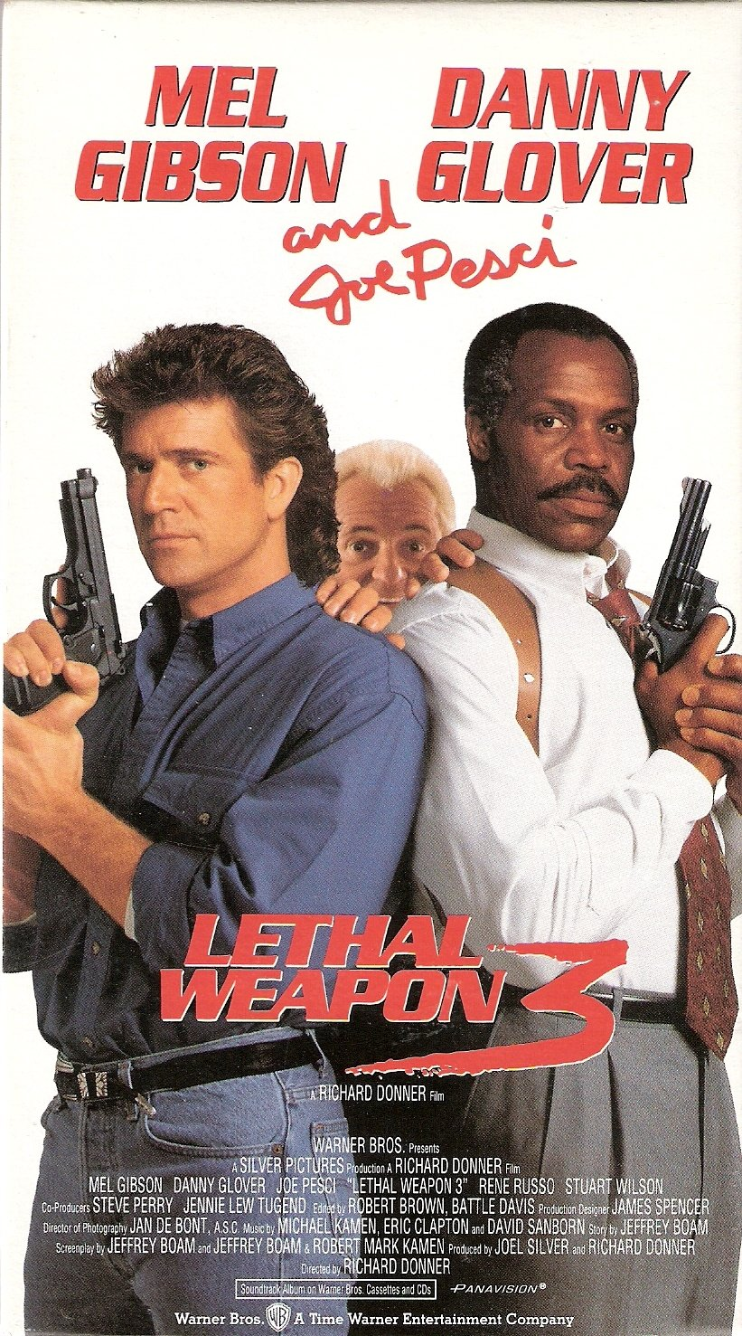 Lethal Weapon 3 Starring Mel Gibson Danny Glover