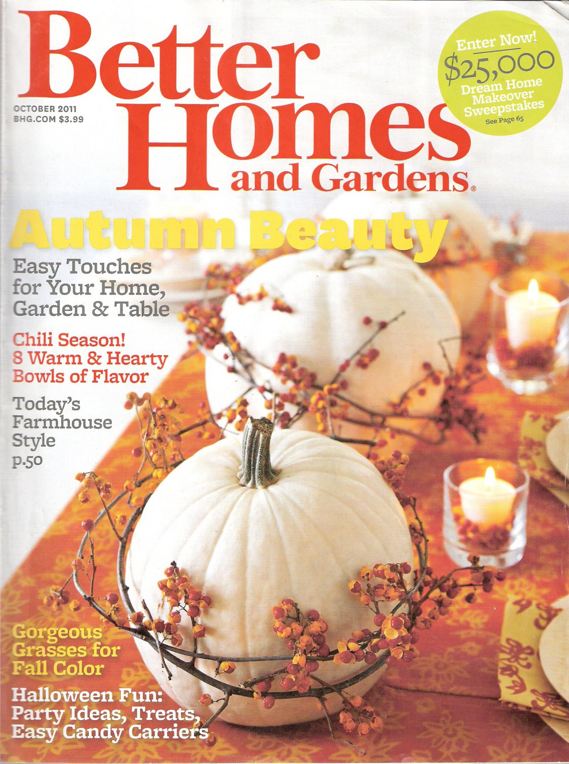Better Homes and Gardens Magazine October 2011 Autumn Beauty